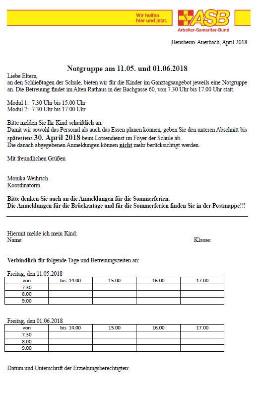 Start Schlossbergschule Bensheim Auerbach